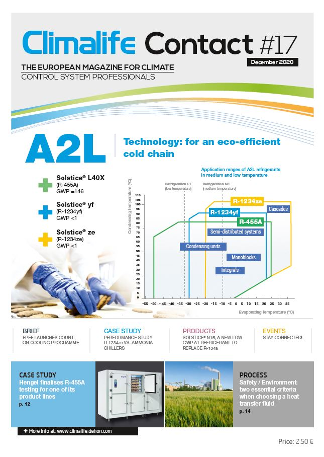 Climalife Contact 17 A2L Refrigerants: Technology for an eco-efficient cold chain